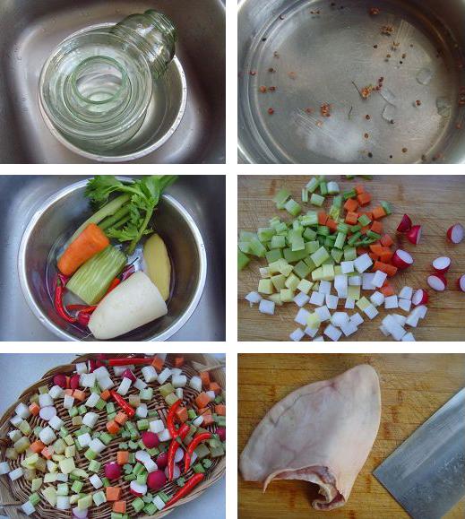 跳水泡菜的做法