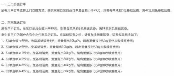 2020年京东多少钱免运费(京东免邮运费标准 )