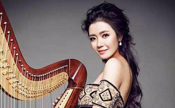 林志炫老婆是黄诗娜吗 被称竖琴女神节目上助阵林志炫