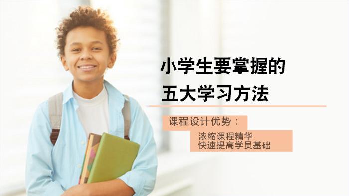 小学生要掌握的五大学习方法